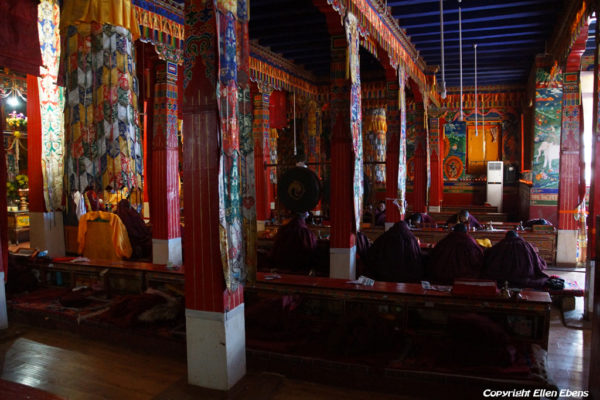 Nuns chanting in the assembly hall of Chimpuk Hermitage