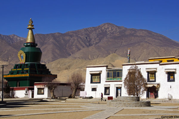 The green stupa at Samye Monastery