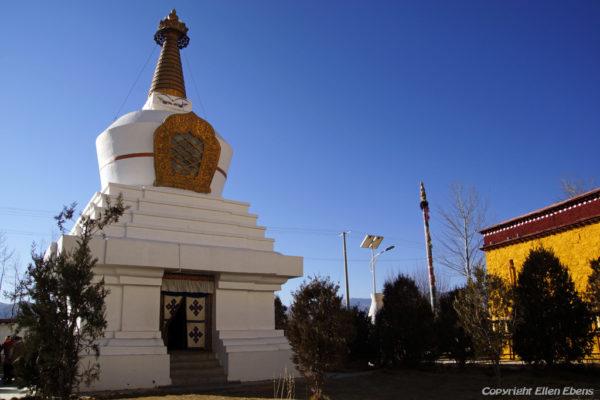 Stupa at Dorje Drak Monastery