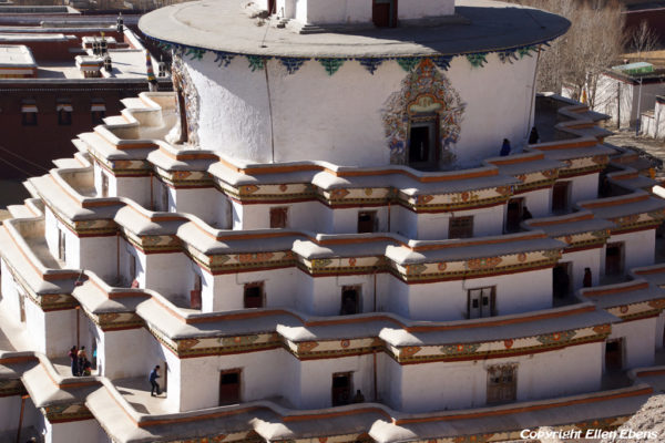 The Gyantse Kumbum stupa with it's endless series of tiny chapels