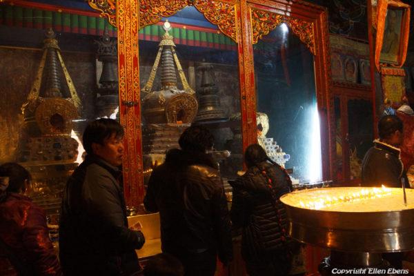 Pilgrims at Shalu Monastery.