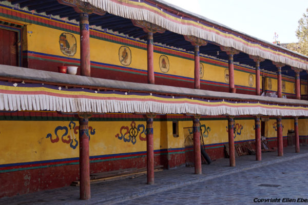 Monks rooms inside Shalu Monastery