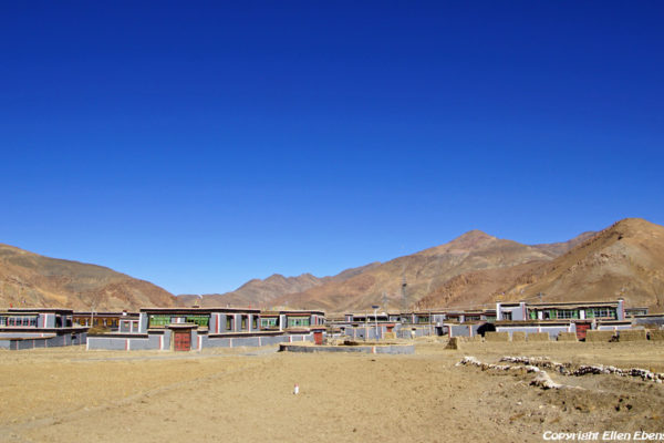 Small village in the Sakya colors