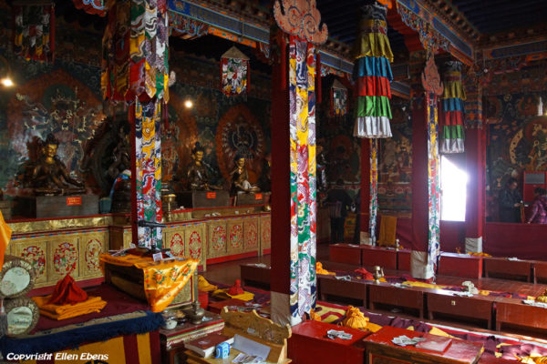 A smaller assembly hall at Drigung Til Monastery