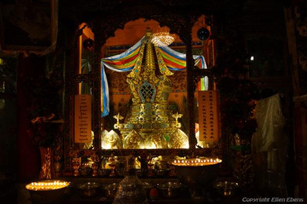 Inside Ganden Monastery