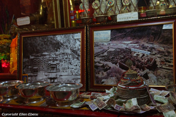 Pictures of the old Tsurphu Monastery, destroyed Tsurphu Monastery an of the the rebuild Tsurphu Monastery