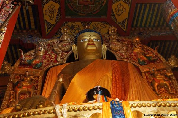 Inside Tsurphu Monastery