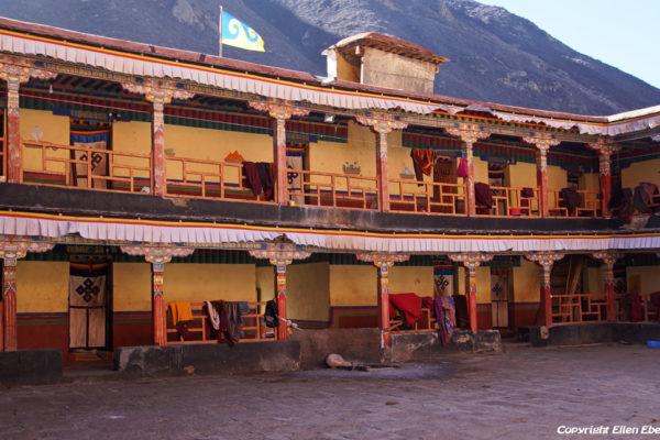 Monks houses at Tsurphu Monastery