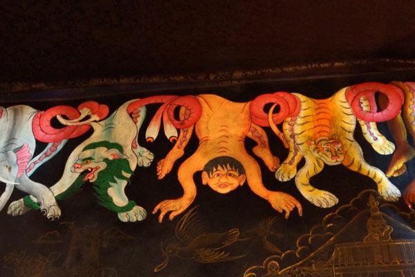 Murals at Tsurphu Monastery