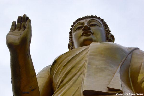 Big Buddha statue at the Meng Le Temple, Jinghong, Xishuangbanna