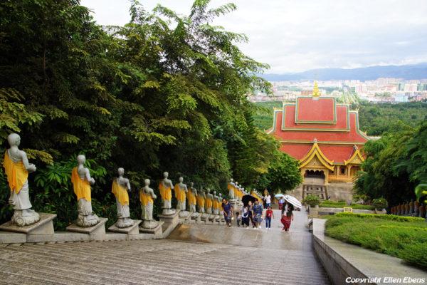 At the Meng Le Temple, Jinghong, Xishuangbanna