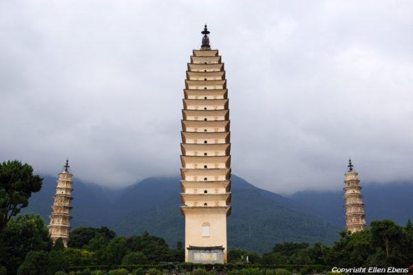 Dali: the three pagodas at the Chongsheng Temple