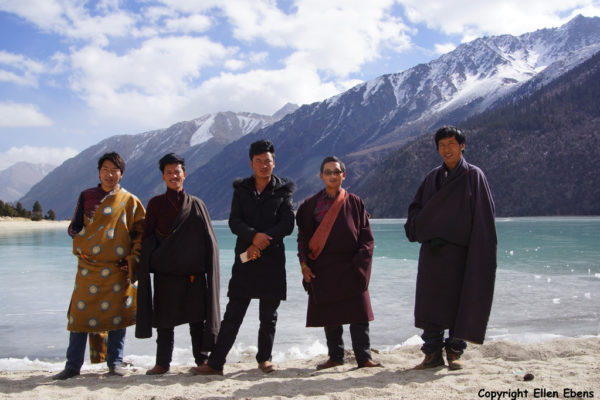 Posing at Ranwu Lake in eastern Tibet