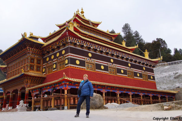 Me at the monastery at Bome