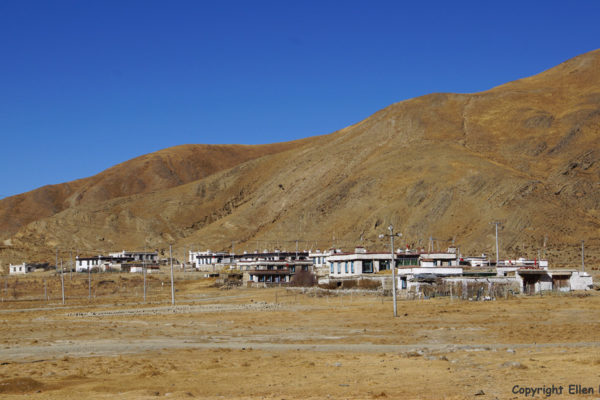 Village at Yamdrok Tso Lake