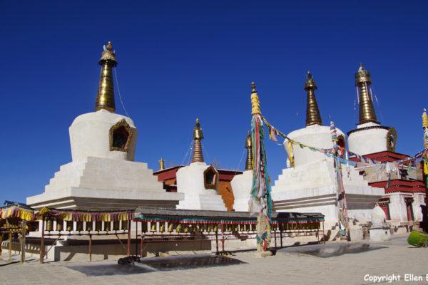 Stupas at Rabse Nunnery, Gyantse
