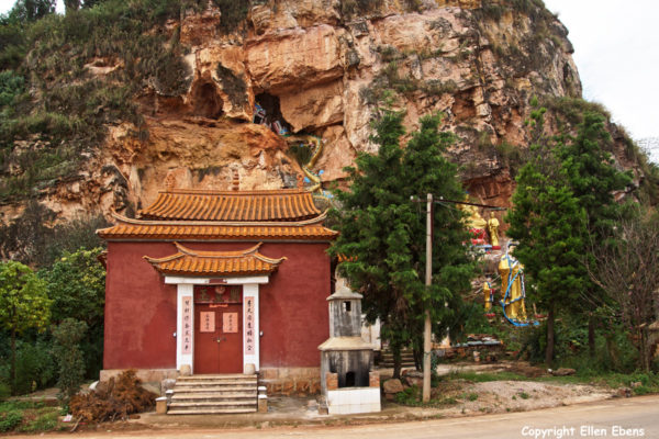 Small temple near the shore of Fuxian Lake