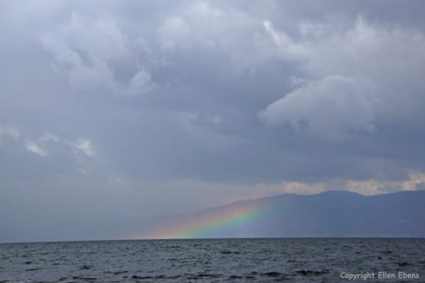 Rainbow over Fuxian Lake