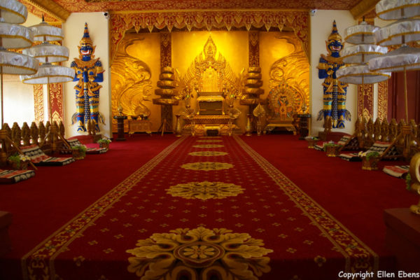 Inside a temple at Manting Park at the city of Jinghong, Xishuangbanna region