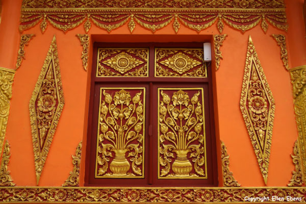 Decoration on the outside wall of a temple at Manting Park at the city of Jinghong, Xishuangbanna region