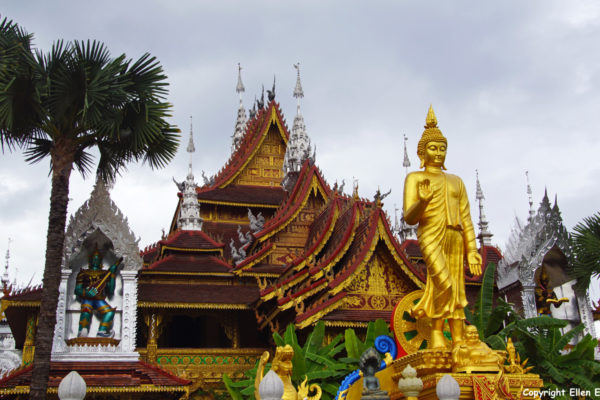 The big Buddhist Temple at Manting Park at the city of Jinghong, Xishuangbanna region