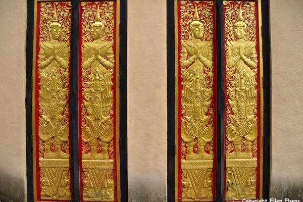 Doors at the Meng Le Temple complex near Jinghong