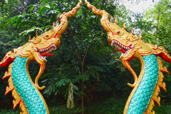 Dragons at the Meng Le Temple complex