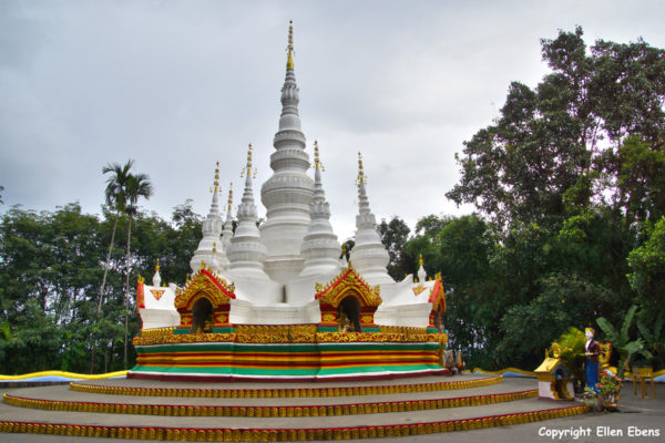 The White Bamboo Shoot Pagoda near the border with Myanmar