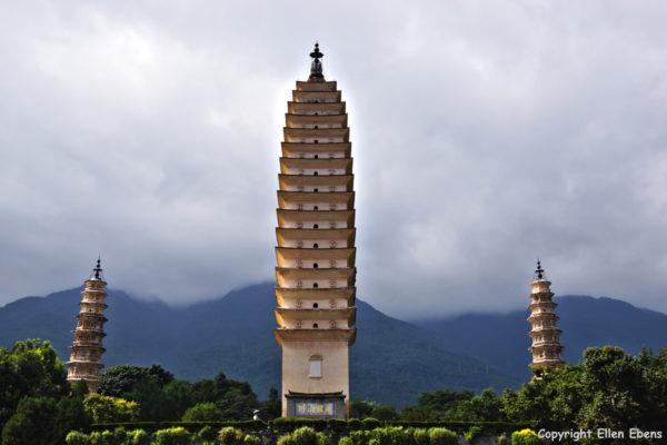 The three pagodas at Dali
