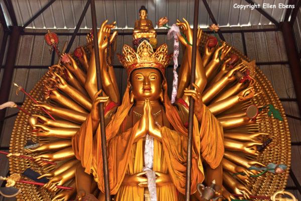 Jizu Shan (Jizu Mountain), Avalokitesvara statue in a temple