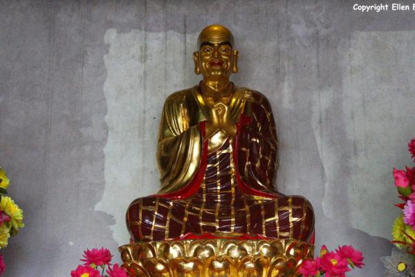 Jizu Shan (Jizu Mountain), statue at the Jinding Temple