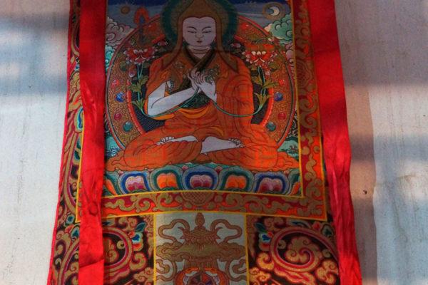 Jizu Shan (Jizu Mountain), thanka at the Jinding Temple
