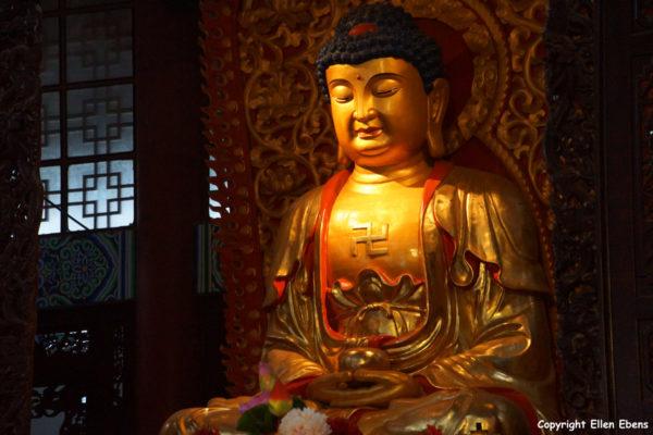 Jizu Shan (Jizu Mountain), Buddha statue at the Jinding Temple