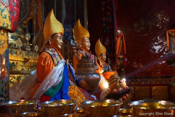 Ganden Monastery. The stupa of master Tsongkhapa.