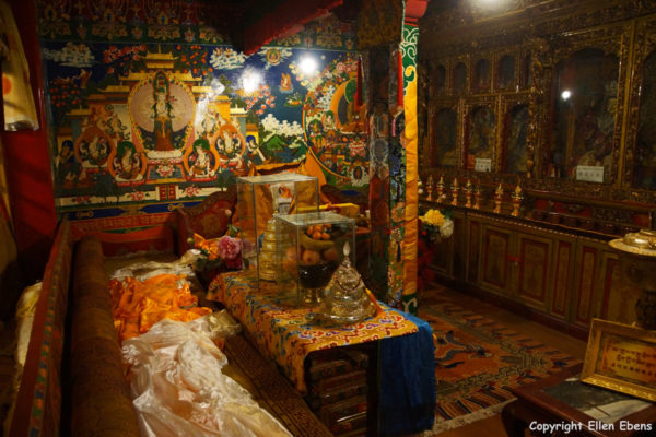 Former living quarters at Ganden Monastery