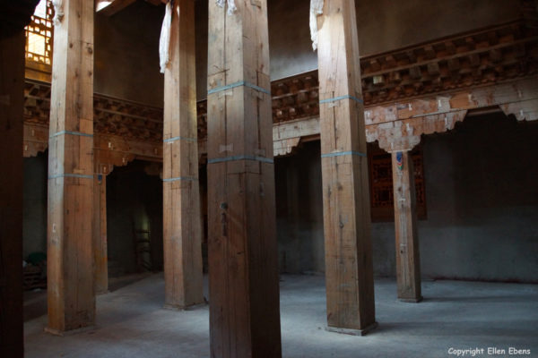 Inside the main Assembly Hall at Tidrum Nunnery (rebuild but not yet ready)