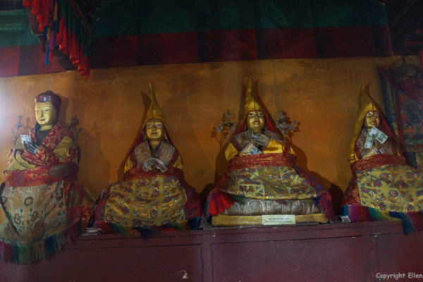 Statues in one of the minor temples of Samye Monastery