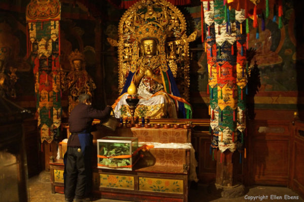 Statue in one of the minor temples of Samye Monastery