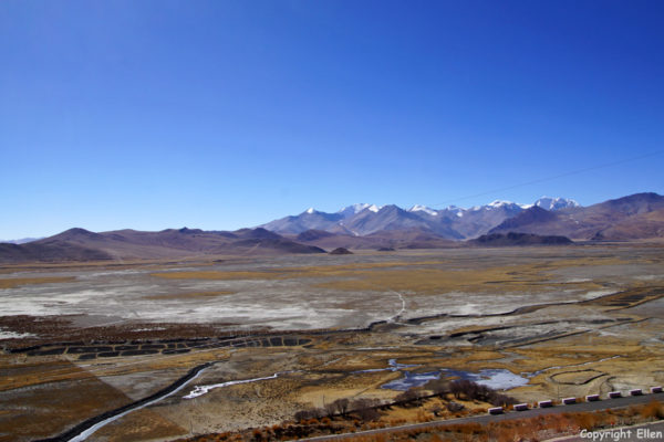 View from Samding Monastery over the plains
