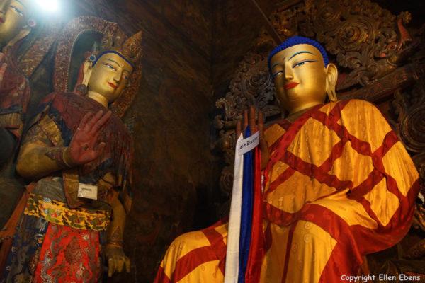 Inside the Main Assembly Hall of Pelkor Chode Monastery
