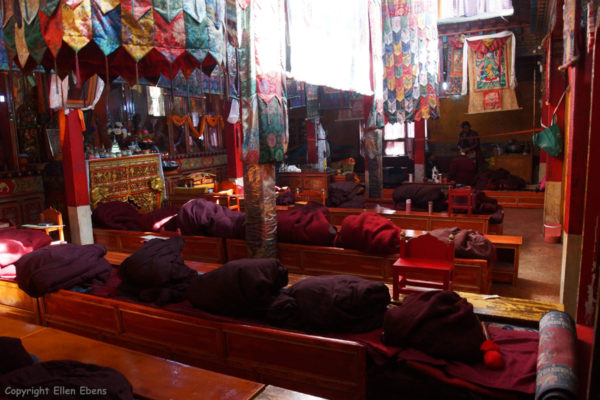 The assembly hall at Rabse Nunnery, Gyantse