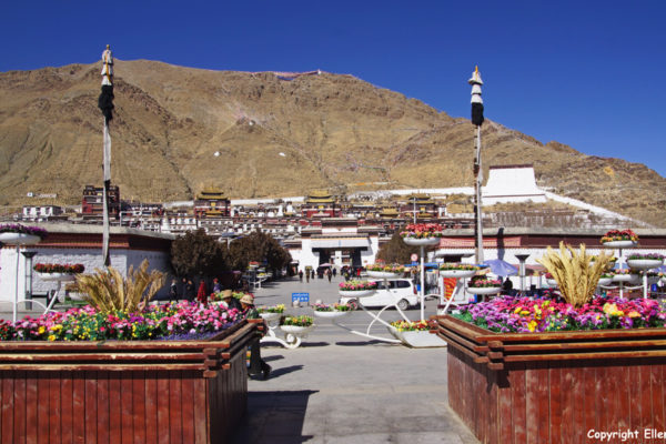 View on Tashilhunpo Monastery at the city of Shigatse