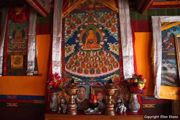 Inside Nakhon Thon (Negodong) Nunnery near Lhasa