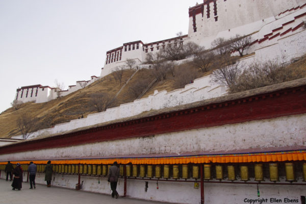 Lhasa, at the backside of the Potala Palace