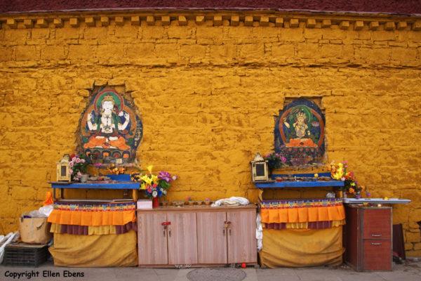 Lhasa, at the backside of the Potala Palace