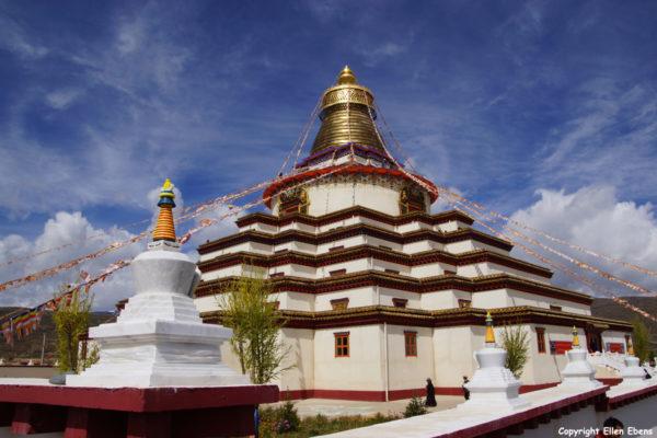 The new Stupa of Garze Monastery