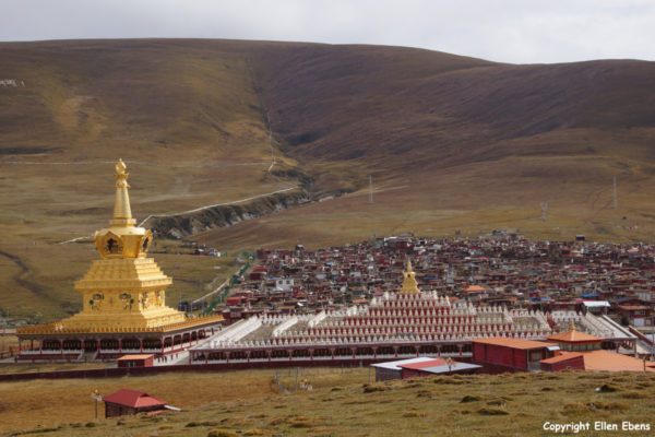 Two new Stupas at Yarchen Gar