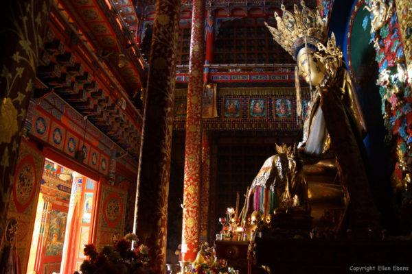 Maitreya statue at Longwu Monastery, Rebkong