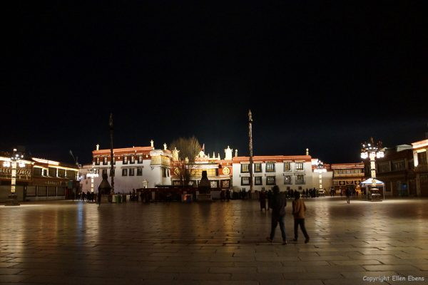 The Jokang Temple at Lhasa by evening