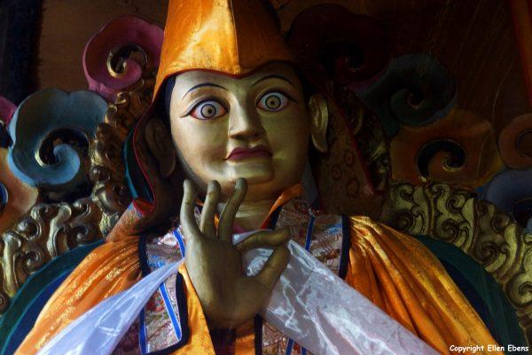 Statue inside Nedong Monastery